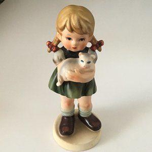 AVON Little Girl holding Cat Figurine